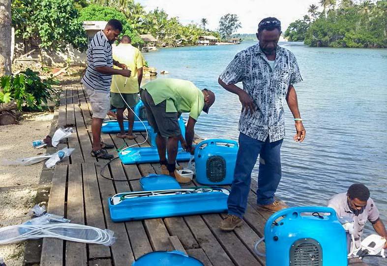 saltwater desalinators emergency relief