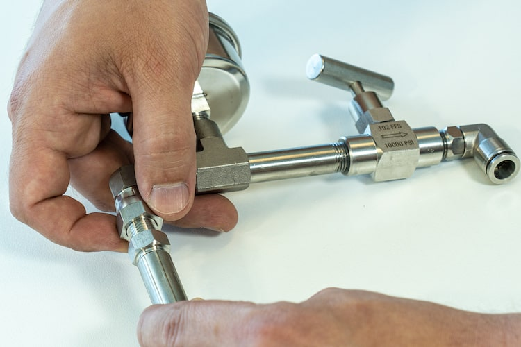 rainman valve gauge fitting
