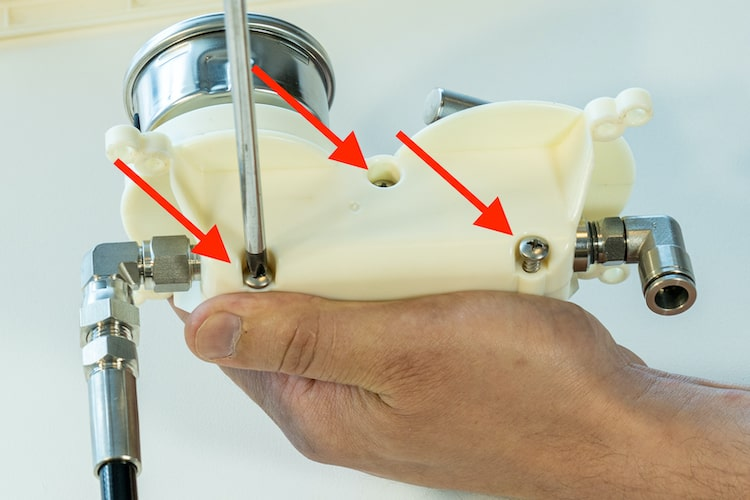 rainman control panel valve gauge screws