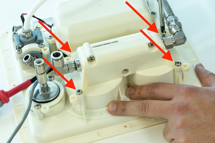 watermaker control panel screws